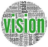 Vision concept in word tag cloud — Foto de Stock