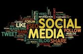 Social media in tag cloud — Stock Photo