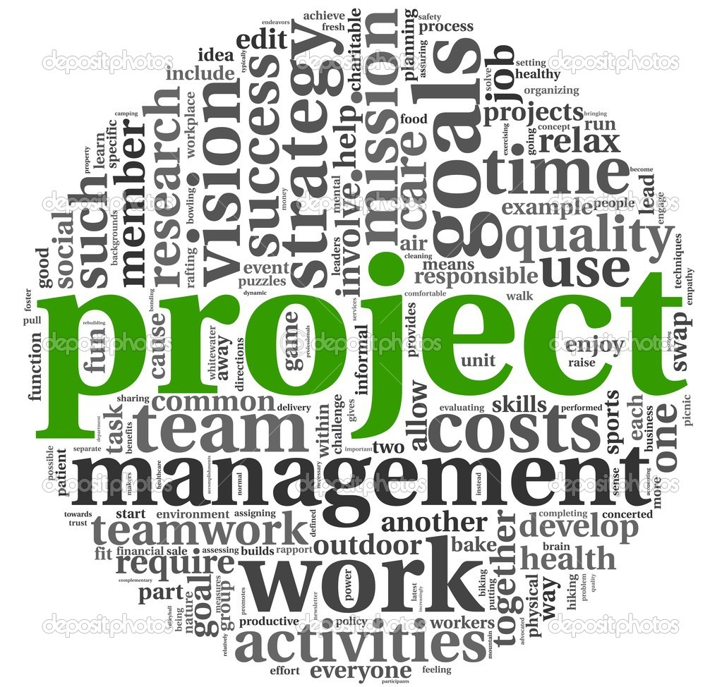 Project and management in tag cloud stock photo 169 olechowski