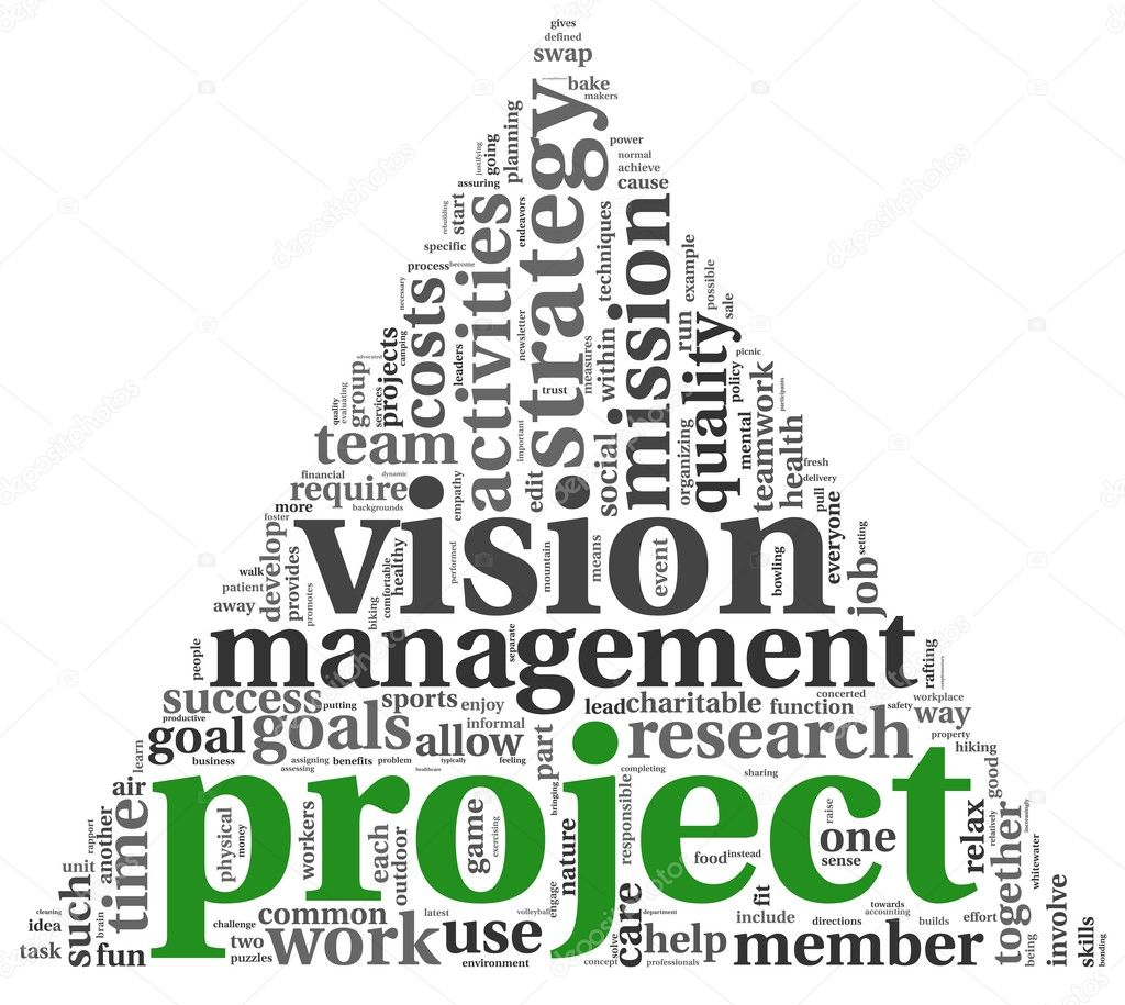 Project and vision concept in word tag cloud on white background  Stock Photo #11282099