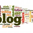 Blog concept in word tag cloud — Stock Photo #11448041