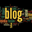 Stock Photo: Blog concept in word tag cloud