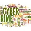 Stock Photo: Cyber crime in word tag cloud