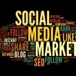 Social medimarketing in tag cloud — Stock Photo #11448052