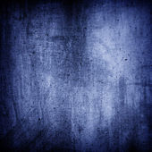 Blue grunge wall texture background — Stock Photo
