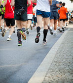 Running in city marathon on street — Foto de Stock