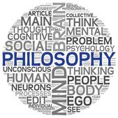 Philosophy concept in word tag cloud — Stock Photo