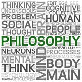 Philosophy concept in word tag cloud — Stockfoto