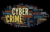 Cyber crime in word tag cloud — Stock Photo
