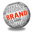 Brand related words in word tag cloud — Stock fotografie #11672042
