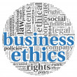 Business ethics concept in tag cloud - Stok fotoğraf