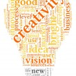 Creativity words in tag cloud — 图库照片