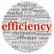 Efficiency concept in tag cloud — Stock Photo