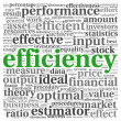 Efficiency concept in tag cloud — Foto Stock