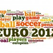 Euro 2012 football concept in word tag cloud — Photo