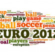 Euro 2012 de football concept dans nuage de Tags mot — Photo