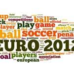 Euro 2012 fútbol concepto en tag cloud de palabra — Foto de Stock