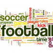 Football concept in word tag cloud — Stok fotoğraf