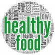Stock Photo: Healthy food concept in tag cloud
