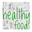 Healthy food concept in tag cloud — Stock Photo