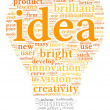 Idea concept words in tag cloud — Stockfoto