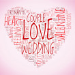 Love and wedding concept in tag cloud — Stock Photo