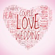 Love and wedding concept in tag cloud — Stock Photo #11672294