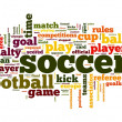 Soccer concept in word tag cloud — Stock Photo #11672315