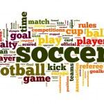 concepto de fútbol en la nube de etiquetas de palabra — Foto de Stock