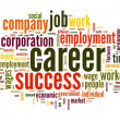 Career concept in word tag cloud — Foto Stock