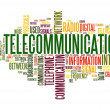 Telecommunication concept in word tag cloud — Stock Photo