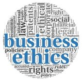 Business ethics concept in tag cloud — Stock Photo