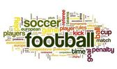 Football concept in word tag cloud — Stock Photo
