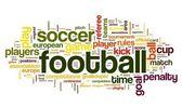 Conceito de futebol na nuvem de tags de palavra — Foto Stock