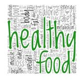 Healthy food concept in tag cloud — Stock fotografie