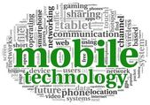 Mobiele technologie concept in de wolk van de markering — Stockfoto