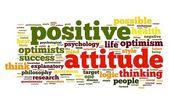 Conceito de atitude positiva na nuvem de tags — Foto Stock