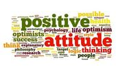 Positive attitude concept in tag cloud — Foto Stock