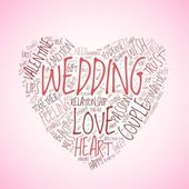 Wedding and love concept in tag cloud — Stock Photo