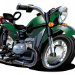 Vector Cartoon Motorcycle — Stock vektor