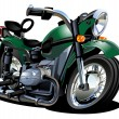 Vector Cartoon Motorcycle — Imagen vectorial