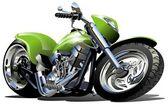 Cartoon Motorcycle — Stock Vector