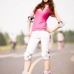 女子轮滑 — 图库照片
