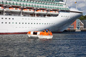 Lifeboats in action — Stock Photo