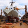 Постер, плакат: Ship in a dry dock