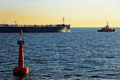 The tanker out to sea — Stock Photo