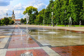 Park with fountains — Stock Photo