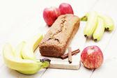 Apple en banaan taart — Stockfoto