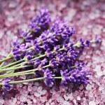 Lavender bath salt — Stock Photo #11245741