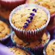 Lavender muffins - Stock Photo